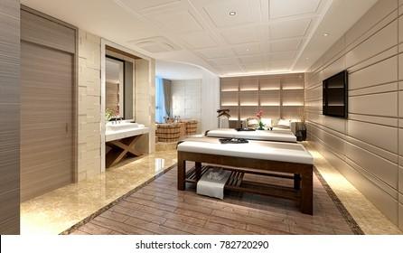 3d render of wellness massage room
