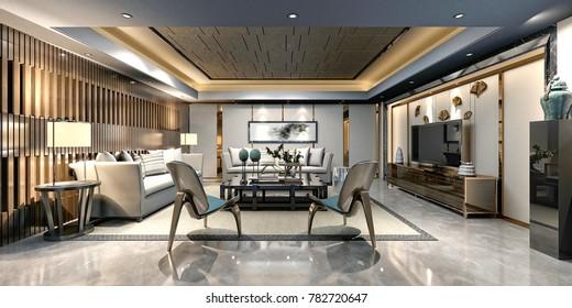 3d render of working room