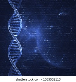 3d rendered abstract illustration of the DNA.