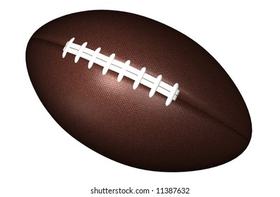 3D rendered American football on a white background