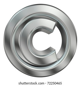 3d rendered copyright symbol as a part of copyright image series