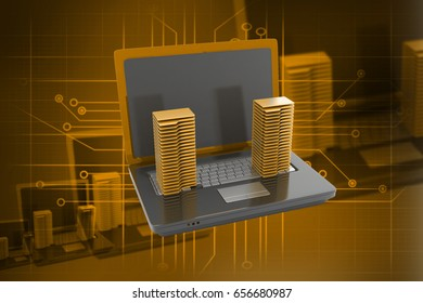 3d rendered Date transfering on a color background