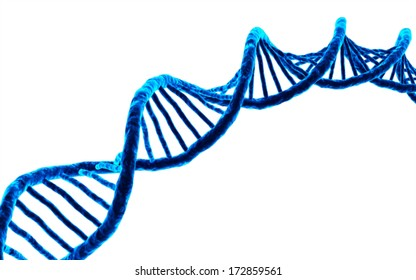 3d rendered DNA isolated on white background