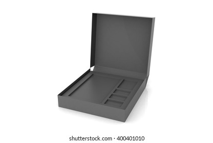 3D rendered empty box package