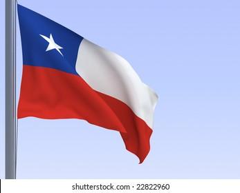 3d rendered flag in wind, series