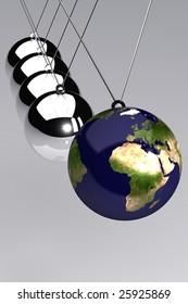 A 3d Rendered Global Business Time Illustration
