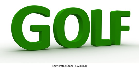 3D Rendered Golf word