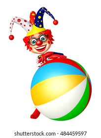 3d rendered illustration of Clown with Big ball