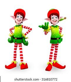 3d rendered illustration of elves