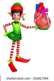 3d rendered illustration of elves with anatomical heart