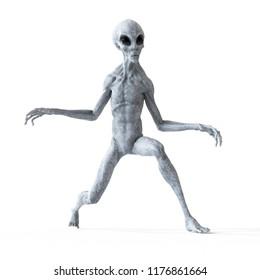 3d rendered illustration of a humanoid alien