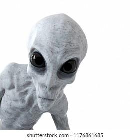 3d gerenderde illustratie van een humanoïde alien