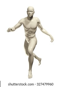 3d rendered illustration of a male running