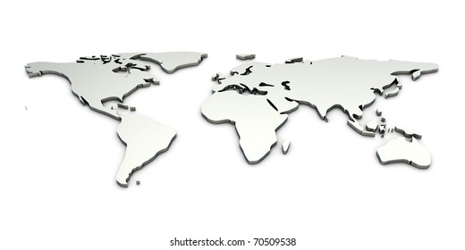 World map metal images stock photos vectors shutterstock a metallic world map gumiabroncs Image collections