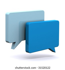 A 3d Rendered Illustration of a Set of Speech Bubbles