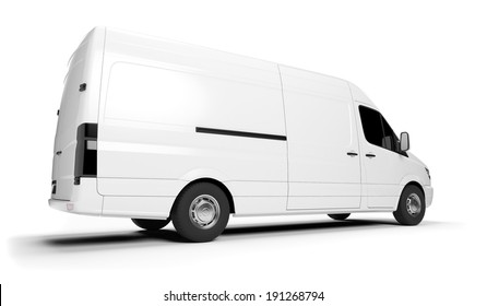 3d rendered illustration of a white transporter