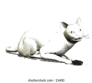3d rendered kat sketch