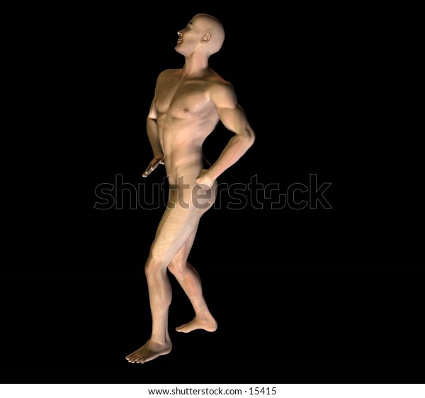 3d rendered male body