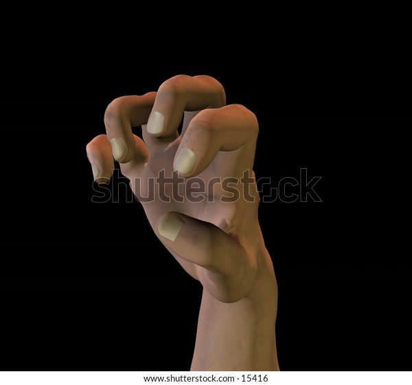 3d rendered male hand