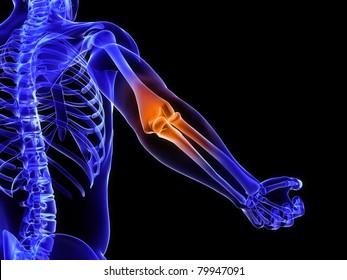 3d rendered medical illustration of a bursitis