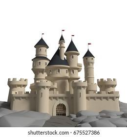 3d rendered Medieval Castle