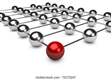 3d rendered network concept on white background