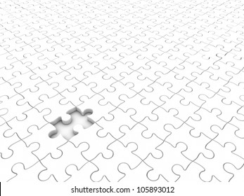3D rendered plastic puzzle background.