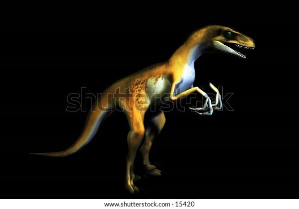 3d rendered raptor