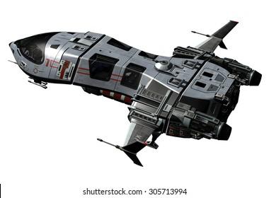 3D rendered Spaceship
