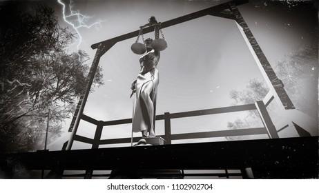 3d rendering about capital punishment