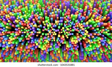 3D rendering abstract background.