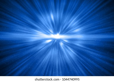 3D rendering, abstract cosmic explosion shockwave blue energy on black background, texture effect