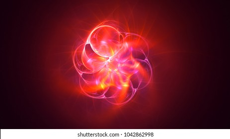 3D rendering abstract fractal light background