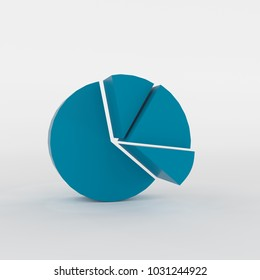 3d rendering of abstract pie chart blocks