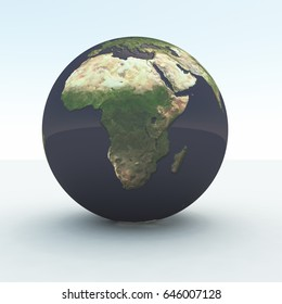 3D rendering Africa Globe.    Some elements courtesy of NASA