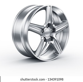 3d rendering of an alloy rim