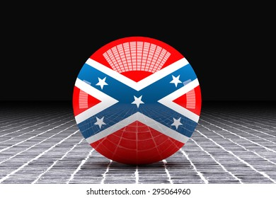 3d rendering of an american confederated flag on a sphere