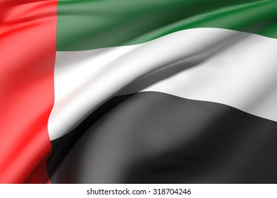 3d rendering of an Arab United Emirates flag