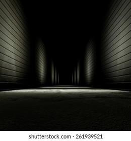 3d rendering background dark alley.
