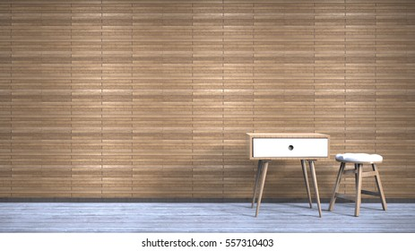 3d rendering background interior style wall