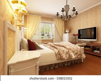 3d rendering bed room