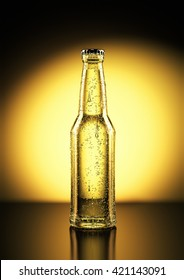 3D Rendering of a beer bottle