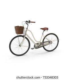 3D rendering bicycle isolated