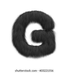 3D rendering of black hair alphabet