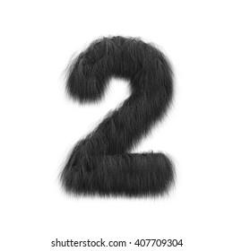 3D rendering of black hair number