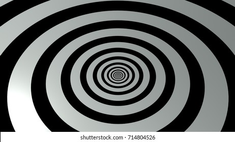 The 3d rendering of black and white abstract background