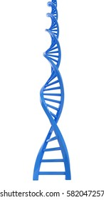 3d rendering blue DNA structure abstract background