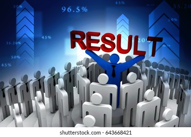 3d rendering business leadership holding text result