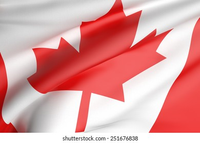 3d rendering of a canada flag