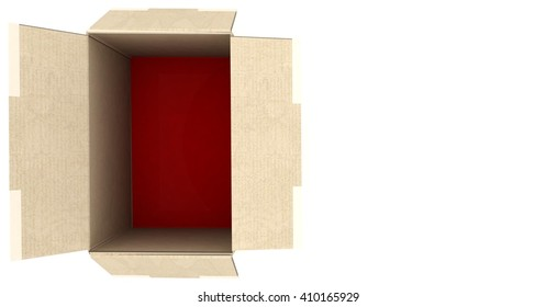 3D rendering .cardboard box.